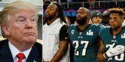 Donald Trump och Malcolm Jenkins (mitten) TT