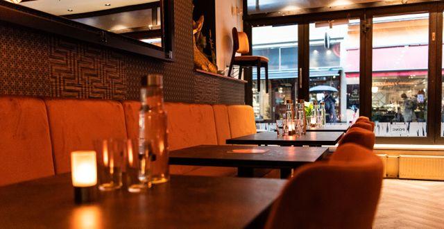 Tomt på restaurang Pong i Stockholm. Amir Nabizadeh/TT / TT NYHETSBYRÅN