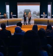Bild från SVT-studion.  SVT