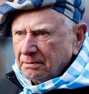 En förintelseöverlevare vid minnesceremonin idag. Aleksandra Szmigiel / TT NYHETSBYRÅN
