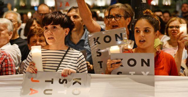 Beslutet ledde till protester i Polen. Alik Keplicz / TT NYHETSBYRÅN/ NTB Scanpix
