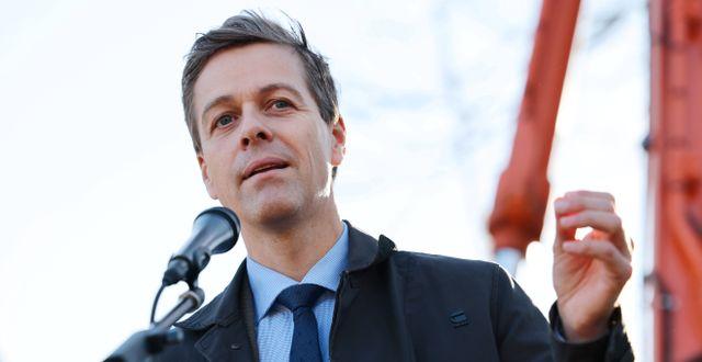 Arkivbild: Norges transportminister Knut Arild Hareide.  Ørn E. Borgen / TT NYHETSBYRÅN