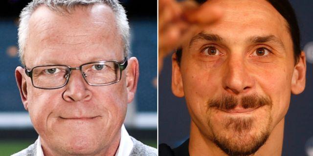 Janne Andersson och Zlatan Ibrahimovic. TT