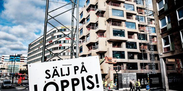 Illustration: Oscar Properties bostadsbygge Norra tornen på Torsgatan/Norra stationsgatan i Stockholm. Tomas Oneborg/SvD/TT / TT NYHETSBYRÅN