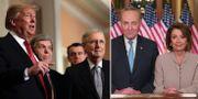 Donald Trump & Mitch McConnell / Chuck Schumer & Nancy Pelosi.  TT