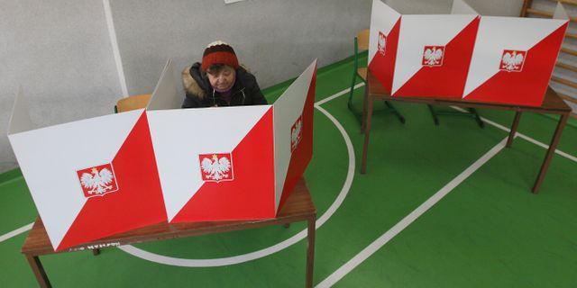 En kvinna lägger sin röst i valet 2015. Czarek Sokolowski / TT NYHETSBYRÅN
