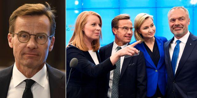 Ulf Kristersson intervjuas av DN inför onsdagens statsministeromröstning. TT