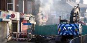 Byggnaden totalförstördes in explosionen Joe Giddens / TT NYHETSBYRÅN