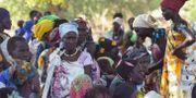 Kvinnor som flytt oroligheterna återvänder till Sydsudan – ett halvår av lugn efter att fredsavtalet slöts. SIMON MAINA / AFP