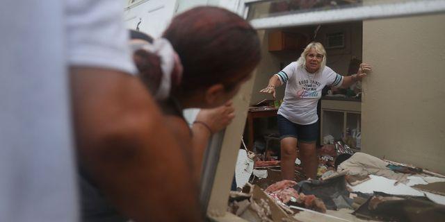 Hemma hos Donna Raney efter att orkanen Harvey dragit fram i Rockport, Texas. Bild från 26 augusti. JOE RAEDLE / GETTY IMAGES NORTH AMERICA