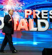 Donald Trump vid ett supporterrally i Phoenix, 24 juli 2021.  Ross D. Franklin / TT NYHETSBYRÅN