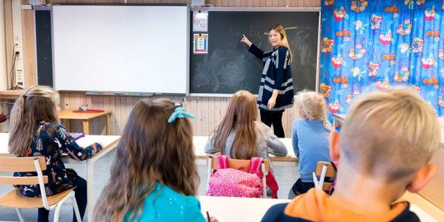 Elever i klassrum. Kallestad, Gorm / TT NYHETSBYRÅN