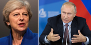 Arkivbilder. Theresa May/Vladimir Putin TT