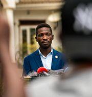 Bobi Wine. Jerome Delay / TT NYHETSBYRÅN