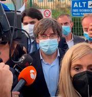 Carles Puigdemont  Gloria Calvi / TT NYHETSBYRÅN