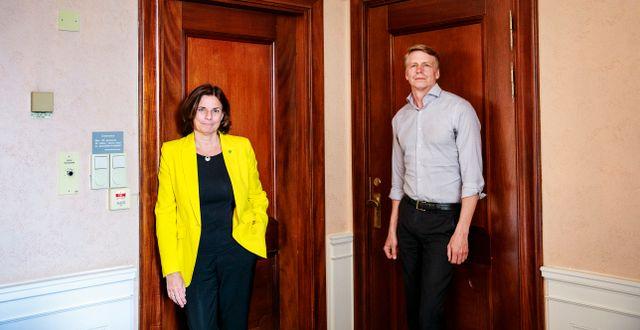 MP:s språkrör Isabella Lövin och Per Bolund. Emma-Sofia Olsson/SvD/TT / TT NYHETSBYRÅN