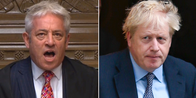 John Bercow/Boris Johnson. TT