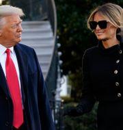 Donald Trump och Melania Trump.  Alex Brandon / TT NYHETSBYRÅN