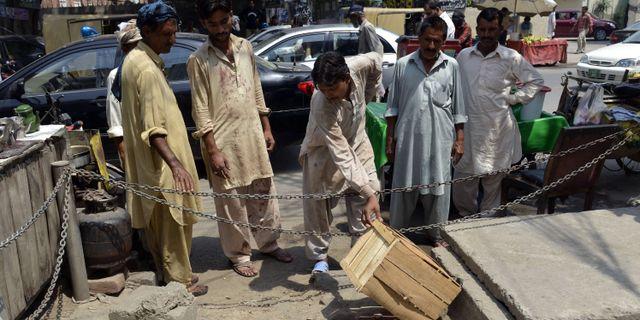 Platsen där Farzana Parveen stenades till döds Arif Ali / AFP
