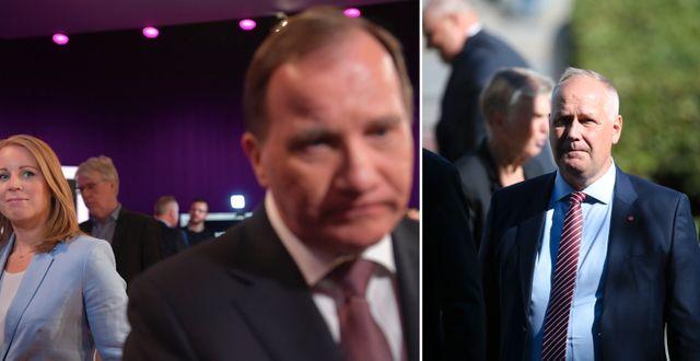 Annie Lööf. Stefan Löfven. Jonas Sjöstedt. TT