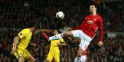 Zlatan Ibrahimovic i aktion mot Rostov. Dave Thompson / TT NYHETSBYRÅN