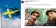 Hej då från @sweden TT/Skärmavbild