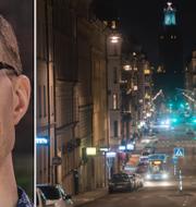 Jan Jönsson (L) och Hantverkargatan i centrala Stockholm. TT