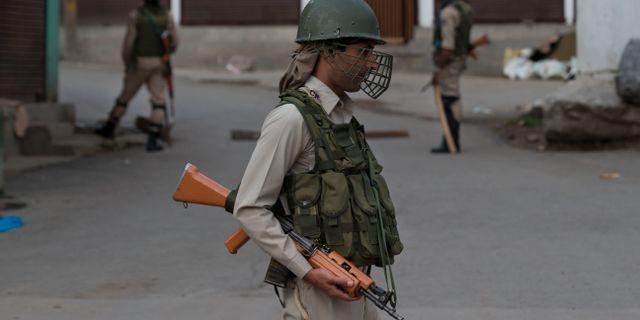 Indisk paramilitär soldat i Kashmir Dar Yasin / TT NYHETSBYRÅN/ NTB Scanpix
