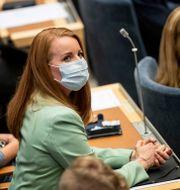 Annie Lööf inför statsministeromröstningen. Christine Olsson/TT / TT NYHETSBYRÅN