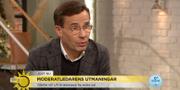 M-ledaren Ulf Kristersson när han gästade TV4 Nyhetsmorgon TV4 Nyhetsmorgon