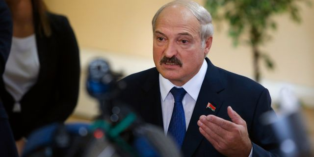 Aleksandr Lukasjenko Sergei Grits / TT NYHETSBYRÅN