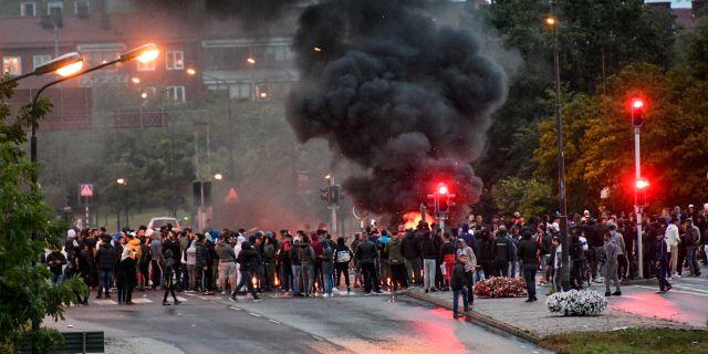 Protester i Malmö. Johan Nilsson/TT / TT NYHETSBYRÅN