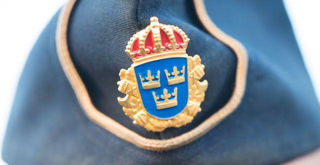 Polismössa.  FREDRIK SANDBERG / TT / TT NYHETSBYRÅN