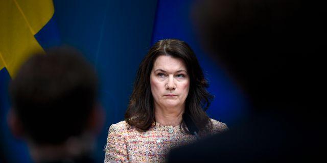 Utrikesminister Ann Linde Pontus Lundahl/TT / TT NYHETSBYRÅN