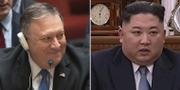 USA:s utrikesminister Mike Pompeo och Nordkoreas ledare Kim Jong-Un  TT