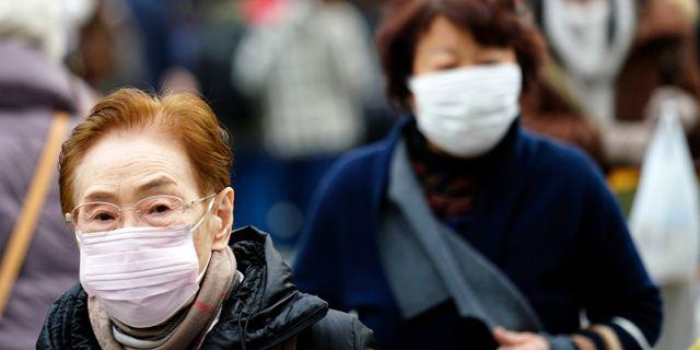 Bild från Tokyo. Ett fall av viruset har upptäckts i Japan.  Eugene Hoshiko / TT NYHETSBYRÅN