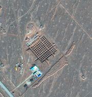 En av satellitbilderna TT NYHETSBYRÅN