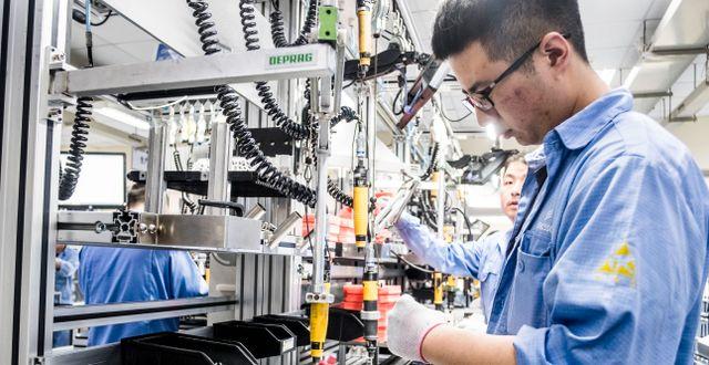 Ericsson-fabrik i Kina Magnus Hjalmarson Neideman/SvD/TT / TT NYHETSBYRÅN