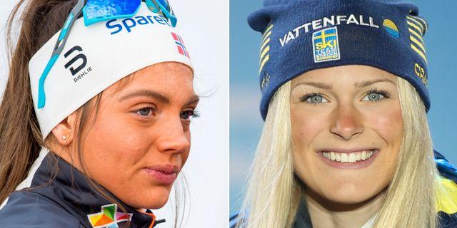 Stavås Skistad och Frida Karlsson. Bildbyrån