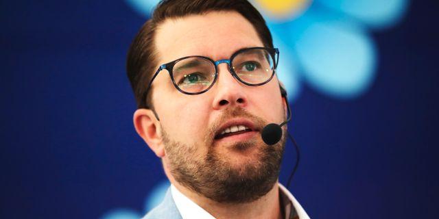 Sverigedemokraternas partiledare Jimmie Åkesson. Adam Ihse /TT / TT NYHETSBYRÅN