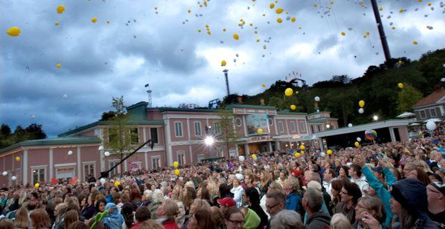 Publikhav på Liseberg.  BJÖRN LARSSON ROSVALL / TT / TT NYHETSBYRÅN