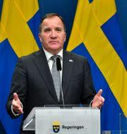 Arkivbild: Statsminister Stefan Löfven (S) vid en pressträff i december Jonas Ekströmer/TT / TT NYHETSBYRÅN