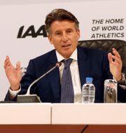IAAF-presidenten Sebastian Coe. IBRAHEEM AL OMARI / TT NYHETSBYRÅN