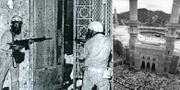Saudiska soldater vid Stora moskén i Mecka 1979. Wikipedia Commons/TT
