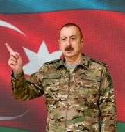 Azerbajdzjans president Ilham Alijev.  Vugar Amrullaev / TT NYHETSBYRÅN