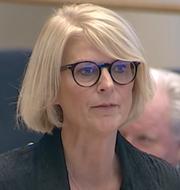 Elisabeth Svantesson (M), Magdalena Andersson (S), talman Andreas Norlén (M) SVT