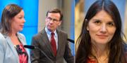 Moderaternas migrationspolitiska talesperson Maria Malmer Stenergard och M-ledaren Ulf Kristersson. T.h: Statsvetaren Jenny Madestam.  TT