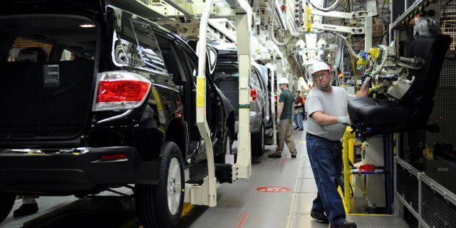 Toyotas fabrik i Indiana, USA. Erin McCracken / TT NYHETSBYRÅN