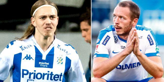 Elias Omarsson och Jon Gudni Fjoluson. TT