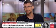 Axel Gordh Humlesjö intevjuas i SVT Morgonstudion om reportaget. SVT